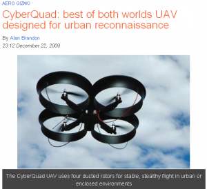 High-end and consumer UAVs