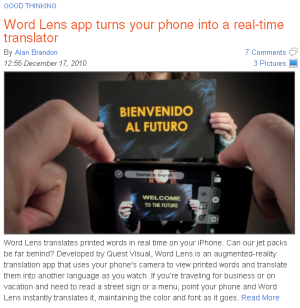 Real-time translator for your phone